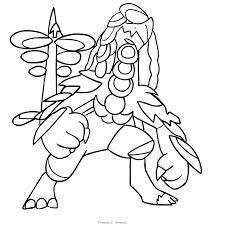 Disegno Kommo O Dei Pokémon Di Settima Generazione Da Colorare