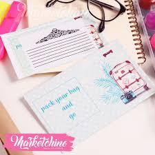 Gift Card Envelope Pack Your Bag Go