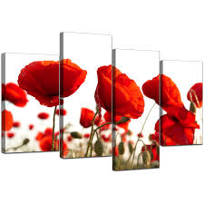 display gallery item 5 set of four cheap red canvas prints display gallery item 6 on poppy wall art uk with canvas prints uk of poppy in red for your living room