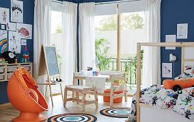 ikea childrens furniture bedroom. a height adjustable flisat desk with paint and roll of paper in childrenu0027s bedroom ikea childrens furniture