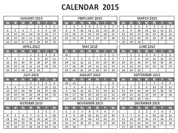 2015 Calendar Page One Page Calendars 2015 Under Fontanacountryinn Com