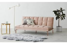 hallie sofa bed pastel pink velvet