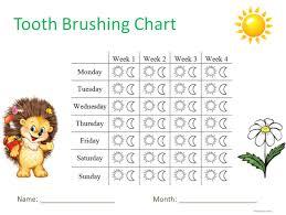 Teeth Brushing Chart Send Teeth Brushing Chart For Your Children