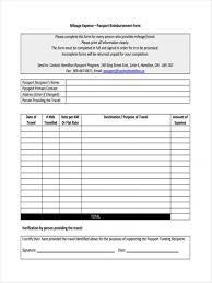 Mileage Reimbursement Form 2018 Expense Forms Etame Miba - Pantacake