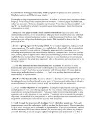 Guidelines For Writing A Philosophy Paper