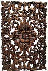 oriental wall hangings wood wall decor lotus home decor decorative wall panel sculpture teak antique oriental
