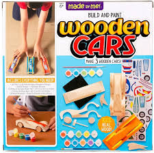 build and paint wooden cars craft kit
