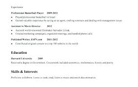 Resume Sample With No Work Experience Awesome High School Resume