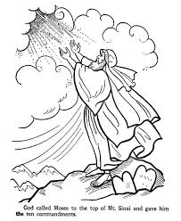Small Picture Ten Commandments Train Coloring Pages Bible Coloring Pages Moses