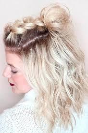 unforgettable half up down hairstyles short hair ideas