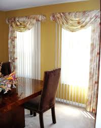 curtains with vertical blinds valances and swags for sliding glass doors with vertical blinds swags over curtains with vertical blinds