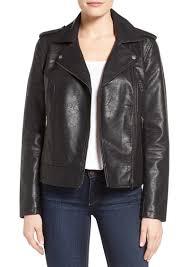 halogen faux leather moto jacket regular petite