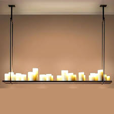country large living room dining rounded rectangular led resin candle chandelier lamp shade in pendant lights