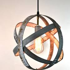 a hand crafted atom atom barrel ring pendant light made to order from wine country craftsman custommade com