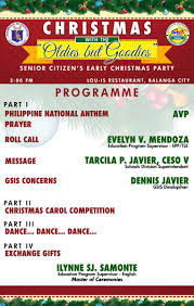 department of education division of bataan calendar of events christmas the oldies but goodies deped bataan senior citizen s early christmas party