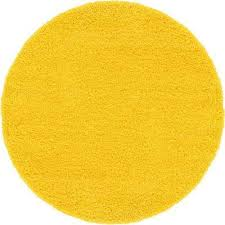 solid tuscan sun yellow 6 ft round area rug
