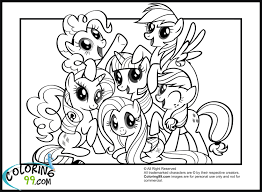 Small Picture My Little Pony Printable Pictures Coloring Page