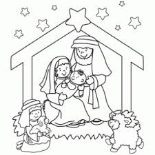 Nativity Coloring Page Free Christmas Recipes Coloring Pages For