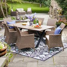 target threshold outdoor dining set. heatherstone wicker patio furniture collection - threshold™ target threshold outdoor dining set r