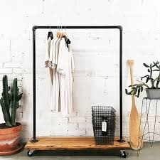 Rolling Coat Rack With Shelf Rustic Industrial Reclaimed Wood Retail Rolling Garment Rack 51