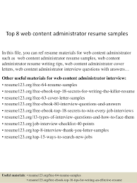 Web Administration Sample Resume top10000webcontentadministratorresumesamples1006310000jpgcb=10043100467100001000010000 2