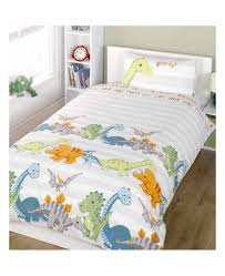 dinosaurs double duvet cover and pillowcase set natural
