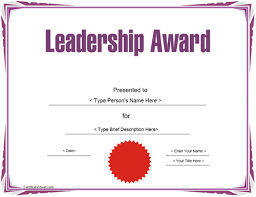 certificate of recognition templates education certificates leadership award template