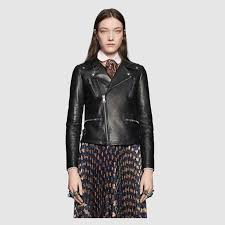 leather biker jacket gucci women s leather casual jackets 419017xn3361000