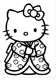 Hello Kitty Coloring Pages Baby Cute Cat Colouring