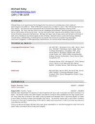 Sample Resume For C Net Developer Free Resume Example And