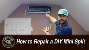 how to repair a ductless mini split air conditioner