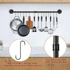 kitchen hanging pot pan rack wall