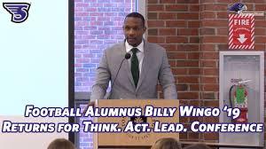 Stonehill Football Alumnus Billy Wingo '19 Returns for Think. Act ...