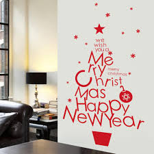 Christmas Decorations For The Wall Aliexpresscom Buy Diy Merry Christmas Wall Stickers Decorations