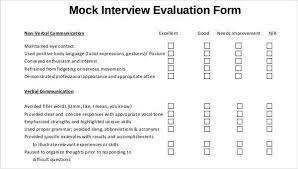 evaluation form templates interview evaluation form templates