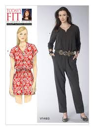 Women's Romper Pattern Enchanting V48 Misses' Raglan Sleeve Jumpsuit And Romper Sewing Pattern