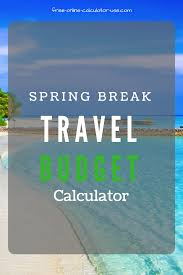vacation expense calculator travel budget calculator with automatic expense multipliers