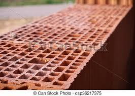 bricks with holes.  Holes Row Of Red Bricks With Holes  Csp36217375 And Bricks With Holes V