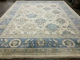 12x15 hand knotted wool rug new oushak muted rugs beige gray blue ushak persian