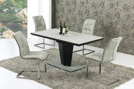 small kitchen table chairs set small extending grey stone effect glass dining table and 4 chairs