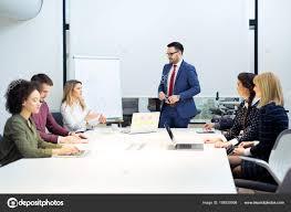 What Is Flip Chart Presentation Businessman Giving Presentation Flip Chart Teamwork Concept