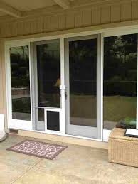 image of sliding glass dog door extender and sliding glass dog door for large dogs