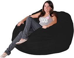 Amazon Com Cozy Sack 3 Bb Black Bean Bag Chair 3 Foot Xl Furniture Decor