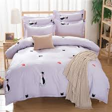 best material for duvet cover. Fine Material Soft Material Cute Couples Black And White Cats Best Quality Home Textile  Reactive Printed Duvet Cover Throughout For