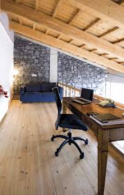 comfortable home office. Comfortable Home Office In Attic Or Loft - Contemporary Wood Shades Interior | D