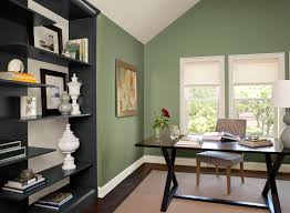 Green Home Office Ideas - Sleek Paint Color Schemes  Benjamin Moore