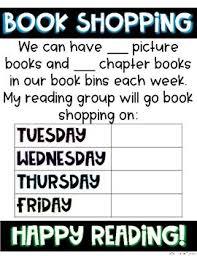 Book Shopping Anchor Chart By The Mountain Teacher