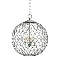 currey company 9617 simpatico 4 light 31 inch hiroshi gray orb chandelier ceiling light photo