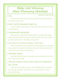 Meal Planning Check List For Baby Led Weaning A Full Flourishing