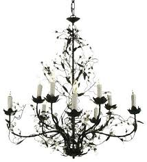 iron crystal chandelier wrought lighting x cast